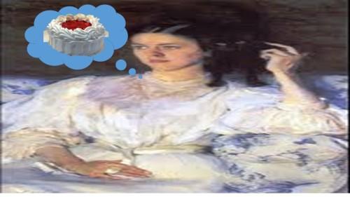 woman-imagining-cake